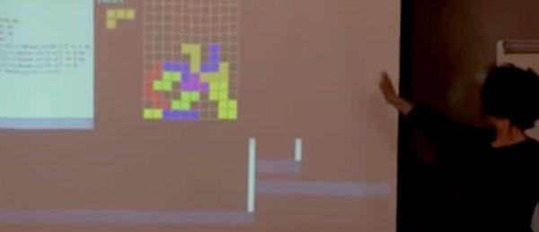 Sport Tetris Kinect interactivas Medialab Prado